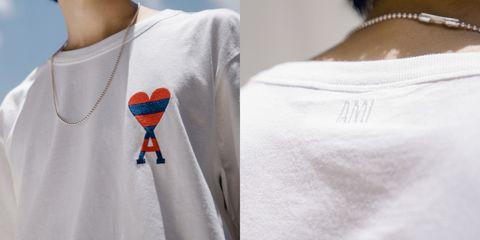 選物店artifacts合作ami推出台灣獨家款愛心t恤,男生女生都可以穿!