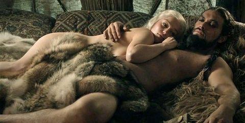 Khal Drogo y Daenerys enJuego de Tronos