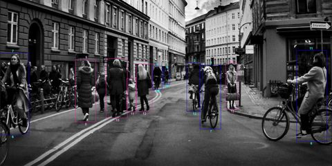 Street, Urban area, Bicycle, Mode of transport, Lane, Town, Vehicle, Transport, Black-and-white, City,