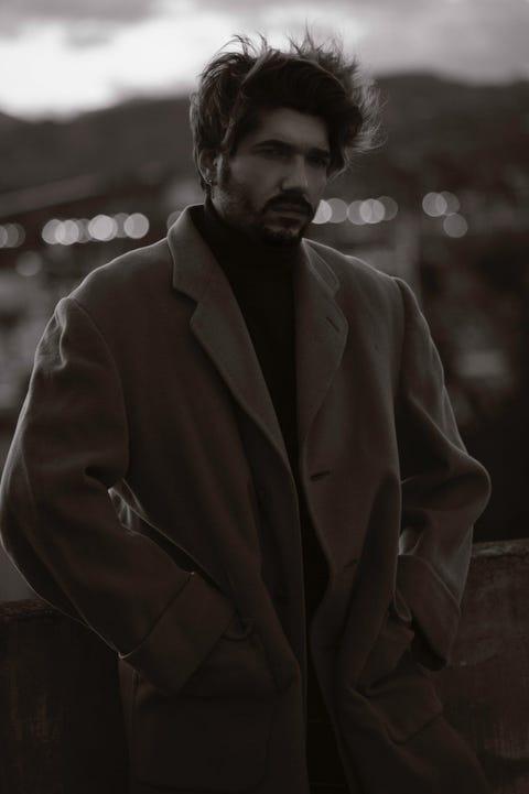 Black, Photograph, Suit, Black-and-white, Human, Monochrome, Photography, Facial hair, Beard, Monochrome photography,