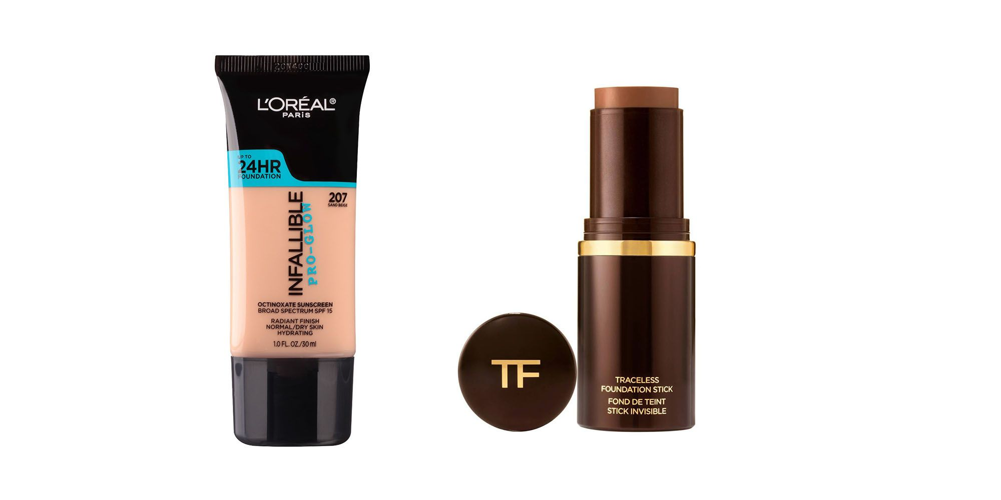 Tom Ford Foundation Stick; L'Oreal Infallible Pro-Glow Foundation