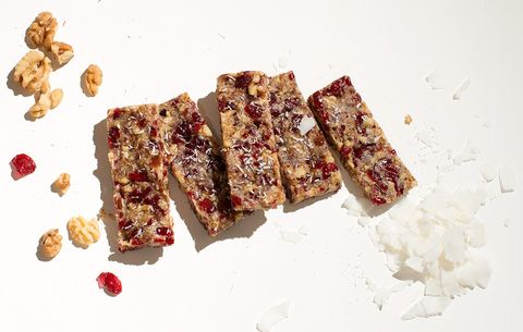 Four ingredient cranberry walnut bars