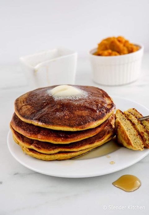 four ingredient pumpkin pancakes
