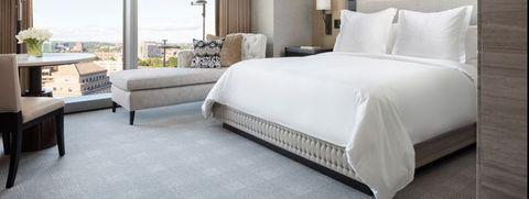 Bedroom, Bed, Furniture, Room, Mattress, Bed frame, Property, Bed sheet, Suite, Interior design,