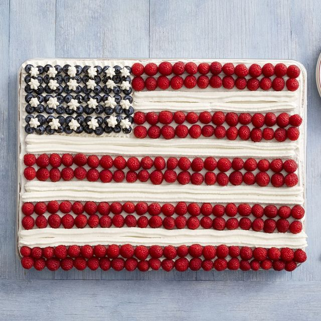 ina garten red white and blue flag cake fourth of july desserts