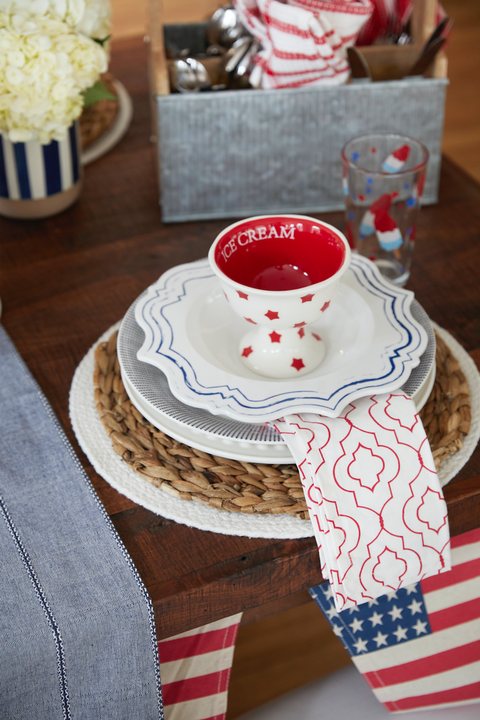 Fourth of July Entertaining Ideas - HomeGoods 7-Layer Place Setting
