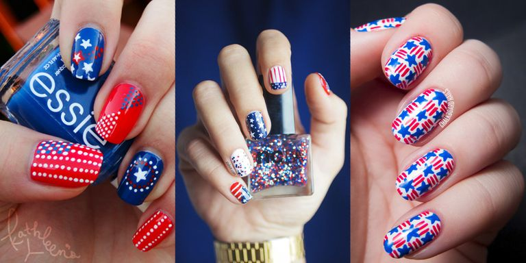 Nail Art Designs 4th July Absolute Cycle
