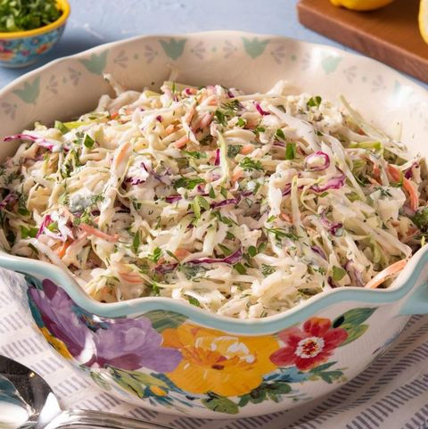 coleslaw in pw floral bowl