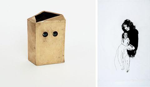 ロレダナ・スペリーニ「untitled」(2015) 「sara, delia  eva」(2006)