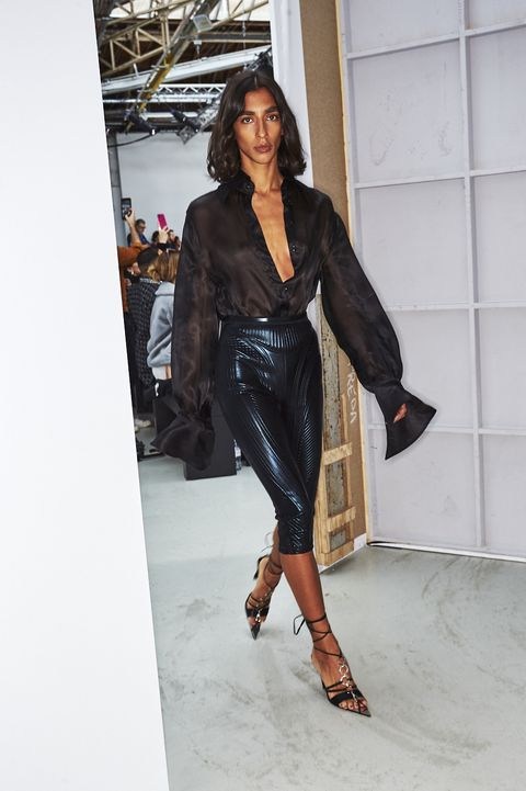 Black, Clothing, Fashion, Leather, Beauty, Footwear, Fashion model, Street fashion, Fashion design, Outerwear,
