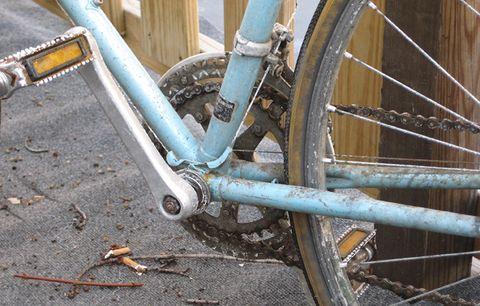A corroded bike.