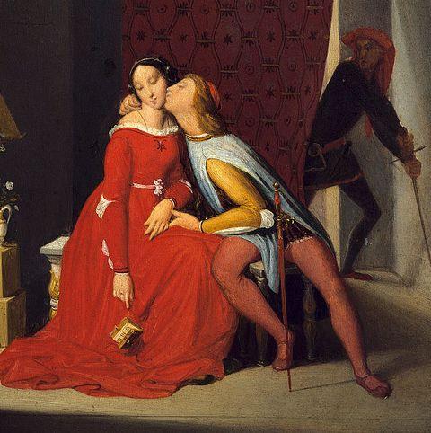 Francesca Da Rimini and Paolo Malatesta by Jean-Auguste-Dominique Ingres