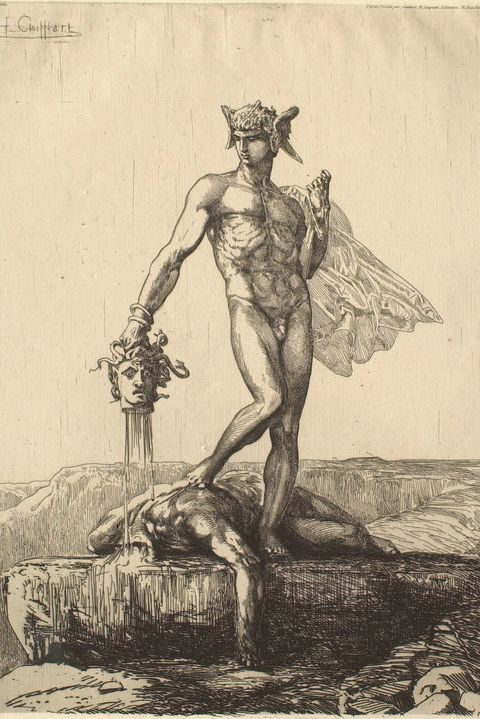 perseus with medusa's severed head