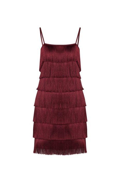Fringe-mini-jurk