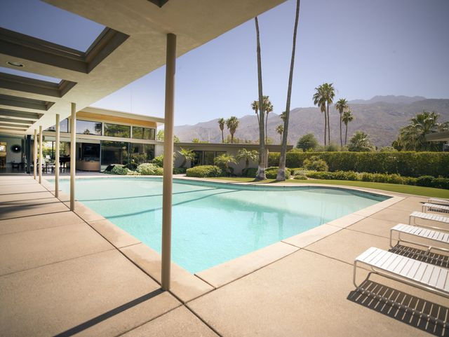 united states   september 23  frank sinatra twin palms estate, a spectacular example of mid century architecture in the heart of palm springs, california photo by carol m highsmithbuyenlargegetty images