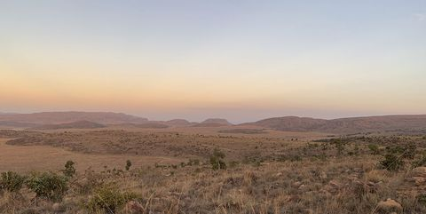 eindeloze afrikaanse vlakte