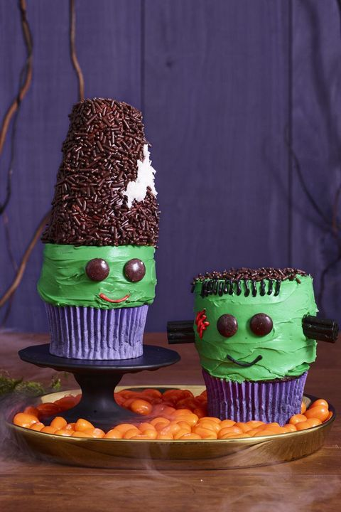 frankenstein and his bride cupcakes