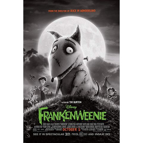 scary movies for kids - frankenweenie
