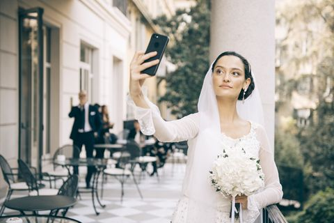 Photograph, Dress, Bride, Wedding dress, Beauty, Bridal clothing, Gown, Photography, Ceremony, Wedding,