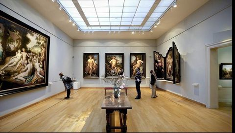 Art gallery, Museum, Tourist attraction, Collection, Building, Art, Art exhibition, Exhibition, Ceiling, Visual arts,