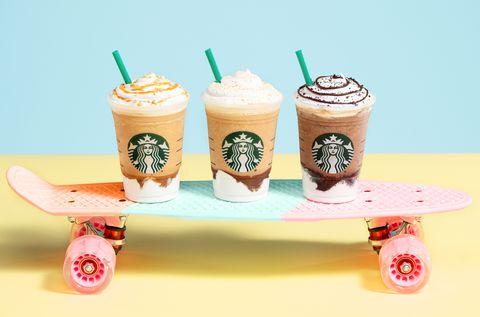 Skateboard, Longboard, Skateboarding Equipment, Food, Smoothie, Milkshake, Dessert, Frappé coffee, Frozen dessert, Longboarding,