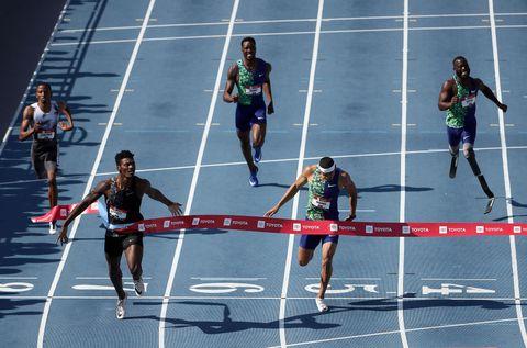 Fred Kerley y Michael Norman en los 400m lisos