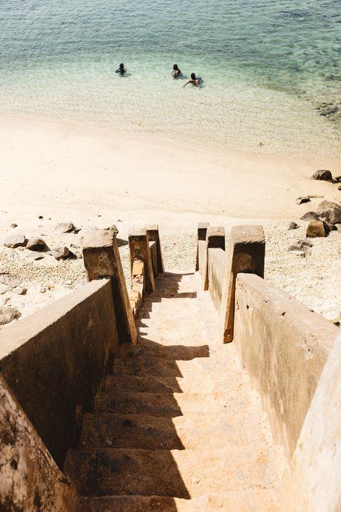 Water, Sea, Beach, Wall, Sand, Stairs, Coast, Shore, Vacation, Summer,