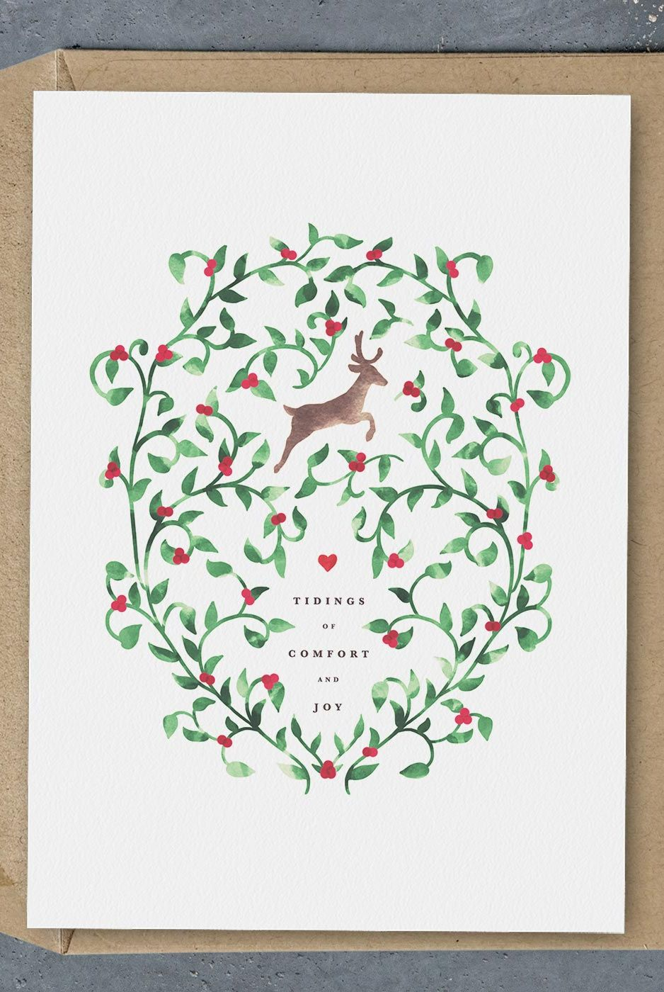 free printable comfort joy christmas card