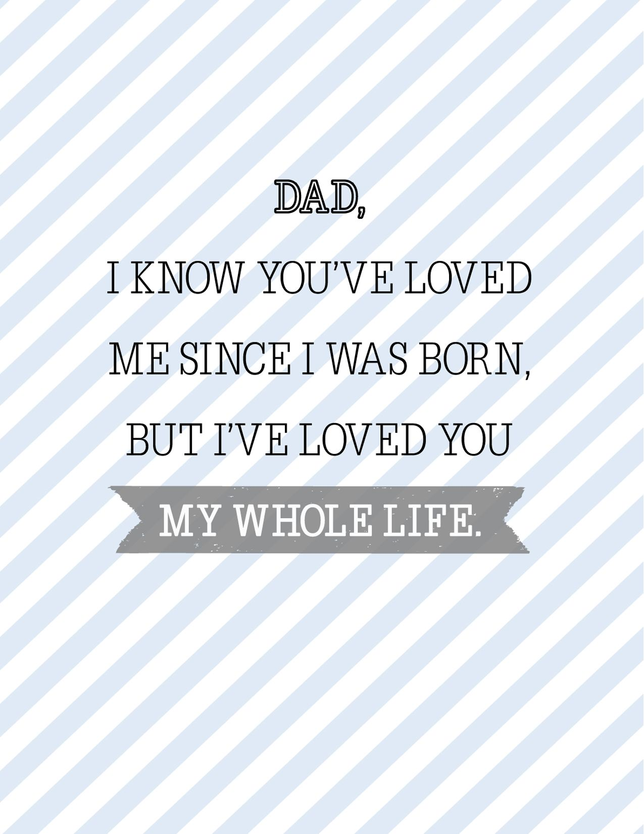 free fathers day cards - loved you dad