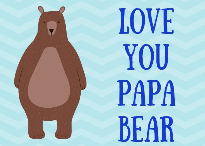 free fathers day cards papa bear
