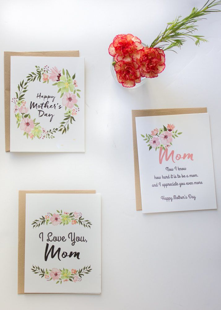 picture relating to Free Printable Mothers Day Cards for Wife referred to as 30 Adorable Cost-free Printable Moms Working day Playing cards - Mother Playing cards By yourself Can