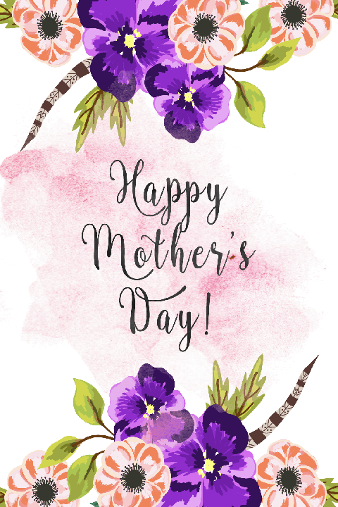 Free Printable Cards Mothers Day Flower