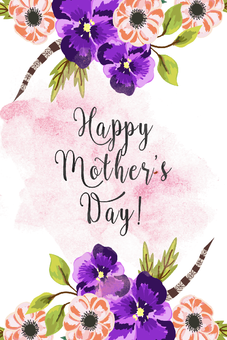 20 cute free printable mothers day cards  mom cards you