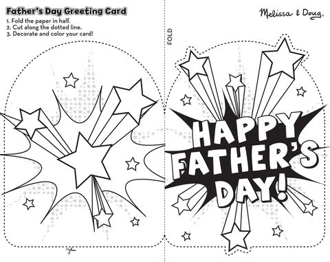 printable fathers day card from melissa and doug with shooting stars on it