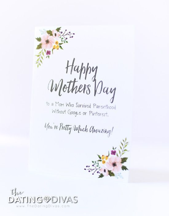 It's just a photo of Bright Printable Funny Mothers Day Cards