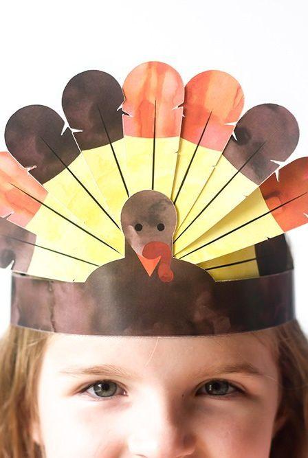 Thanksgiving Turkey Headband Craft Elle Decor