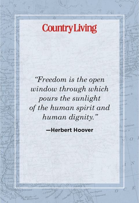 quote about freedom from herbert hoover