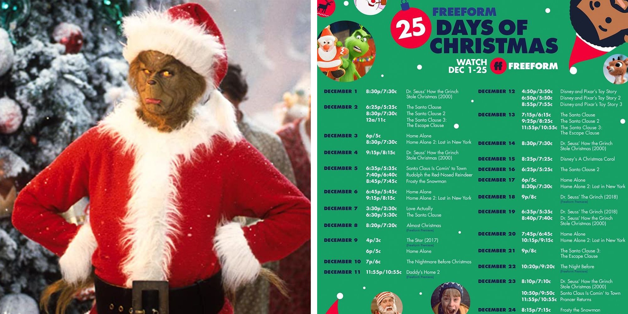 Freeform 25 Days To Christmas 2020 Freeform's '25 Days of Christmas' Schedule Will Keep You Glued to