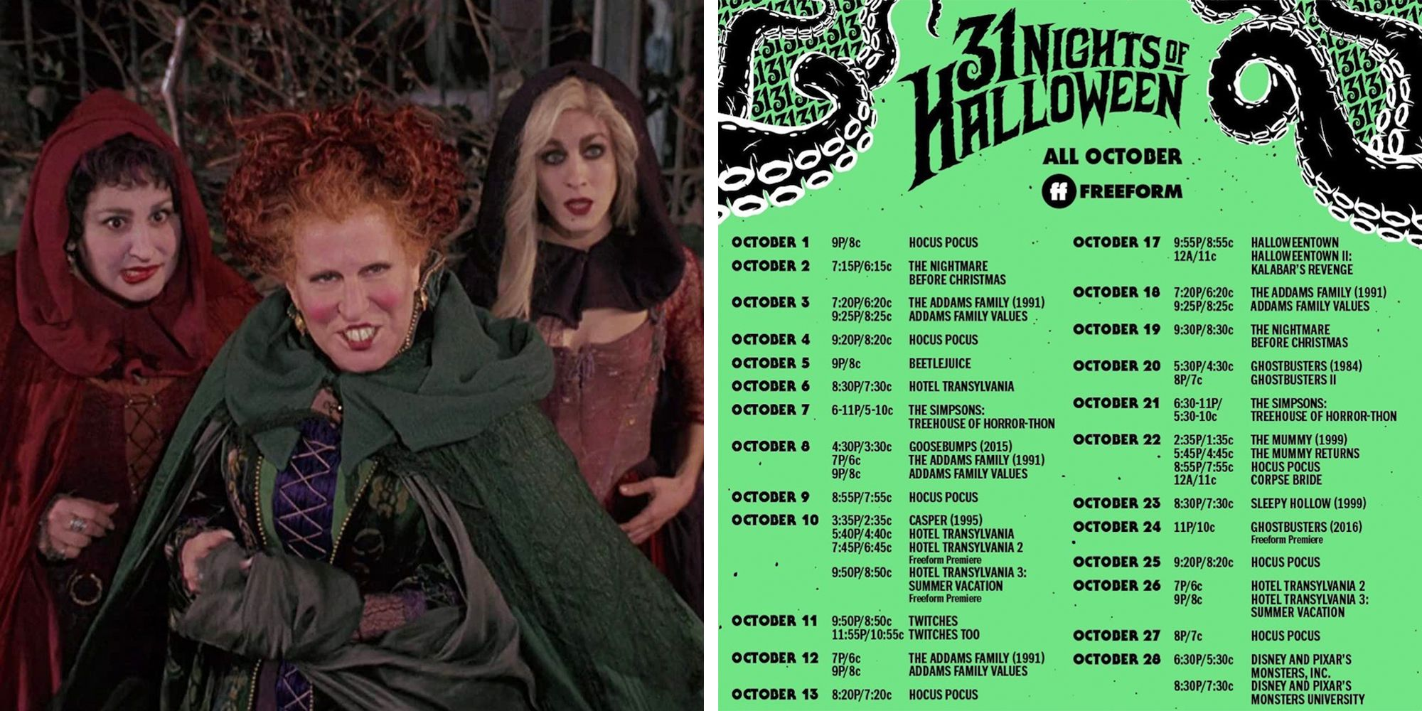 31 Days Of Halloween 2020 Freeform Just Released Its '31 Nights of Halloween' Schedule With