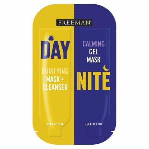 freeman day purifying mask  cleanser  night calming gel mask