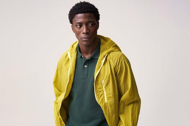 freemans sporting club rain jacket yellow