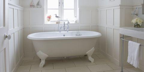 Freestanding Roll Top In Panelled Bathroom London