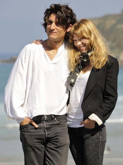French actor Louis Garrel (L) and French