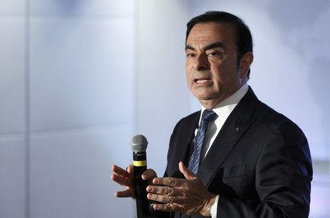 ceo of renault group,  carlos ghosn announces financial results for 2015