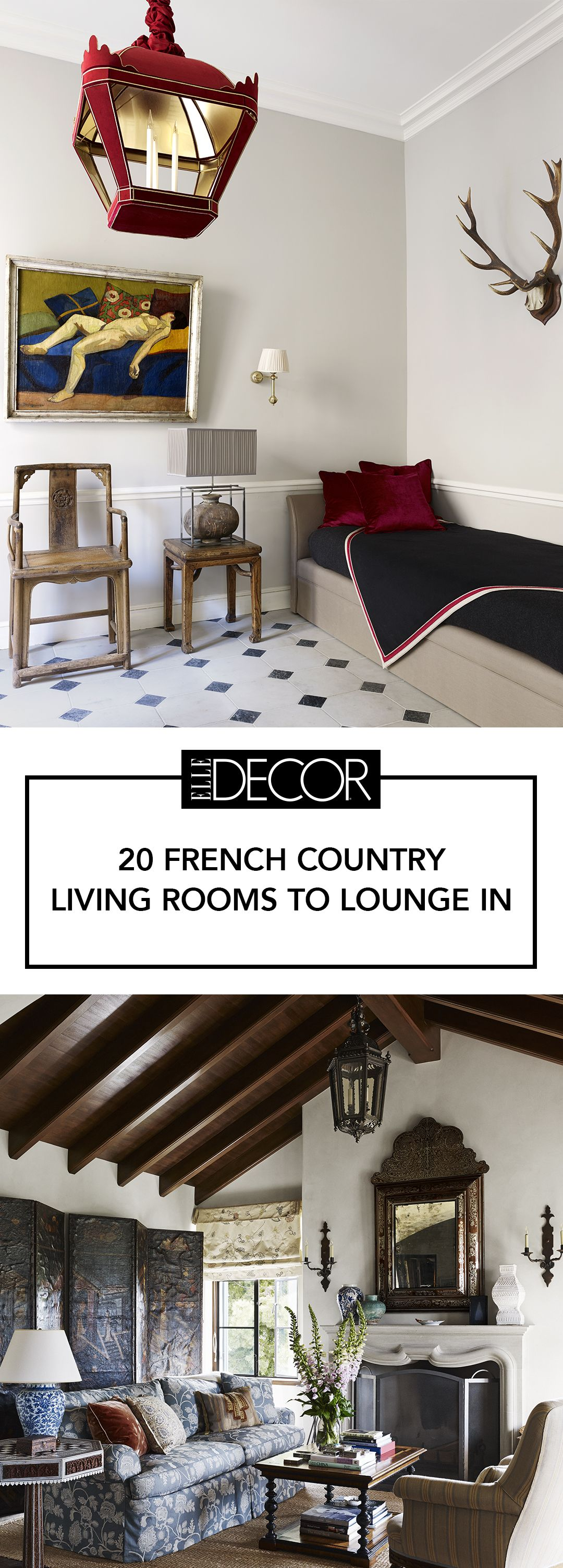 20 French Country Living Room Ideas