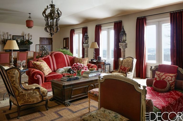 French country style interiors rooms with french country for Magazine living room ideas