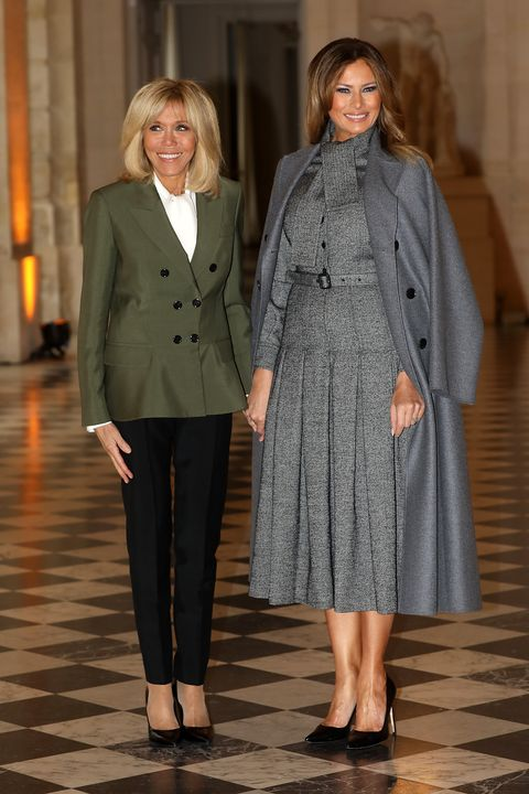 7ab9e9767ee French President s Wife Brigite Macron Welcomes Head Of States  Partners At  Chateau De Versailles