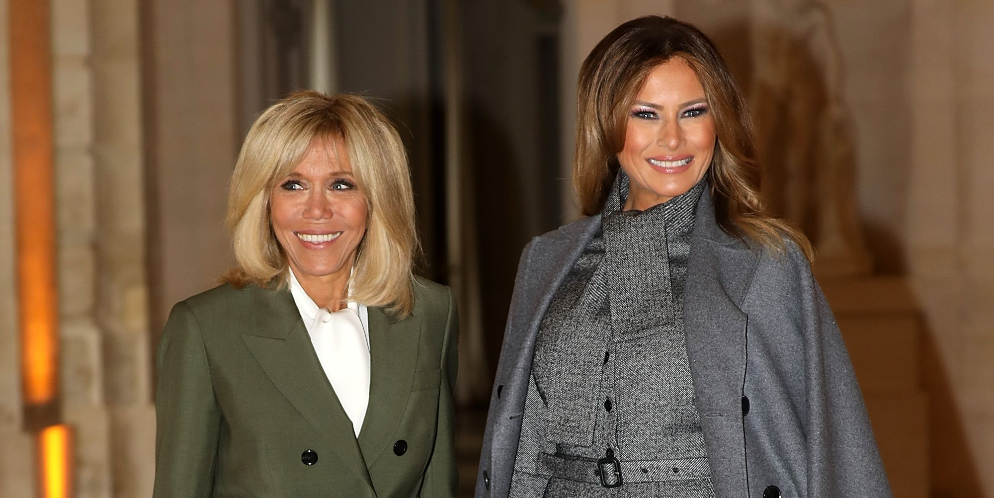 French President's Wife Brigite Macron Welcomes Head Of States' Partners At Chateau De Versailles