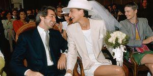 Ines De La Fressange and Luigi d'Urso Marriage Ceremony
