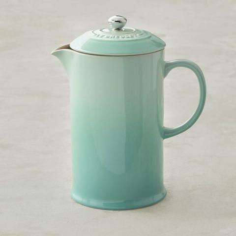 Lid, Aqua, Blue, Green, Turquoise, Kettle, Teapot, Serveware, Teal, Small appliance,